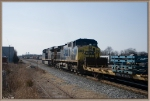 CSX 843,34 head south after switching duty